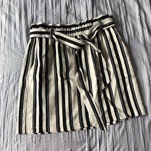 TOPSHOP Striped Skirt
